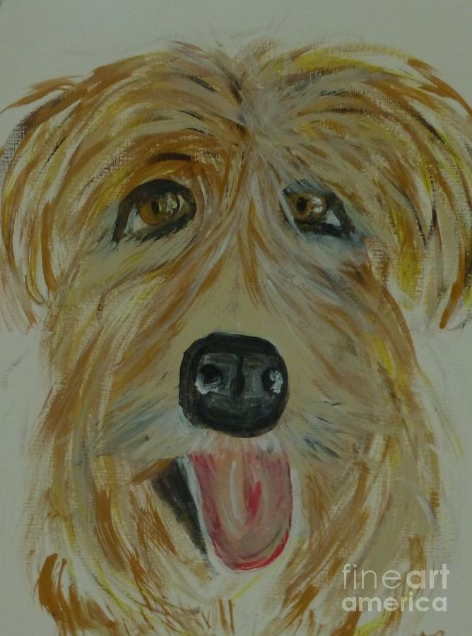 Animal Painting - Finigan I by Marie Bulger