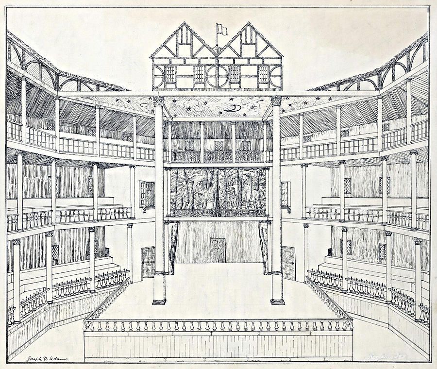 Literature Photograph - Shakespeares Globe Theatre by Folger Shakespeare Library