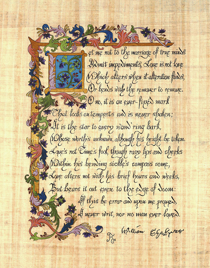 Shakespeare's Sonnet 116 Painting by Kyla Ryan