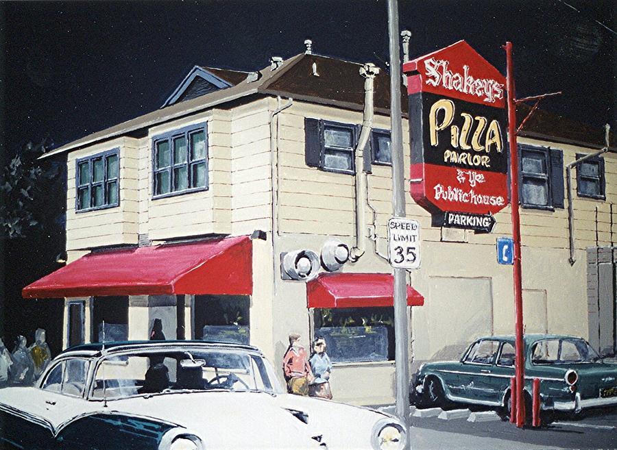 Sacramento Painting - Shakeys by Paul Guyer