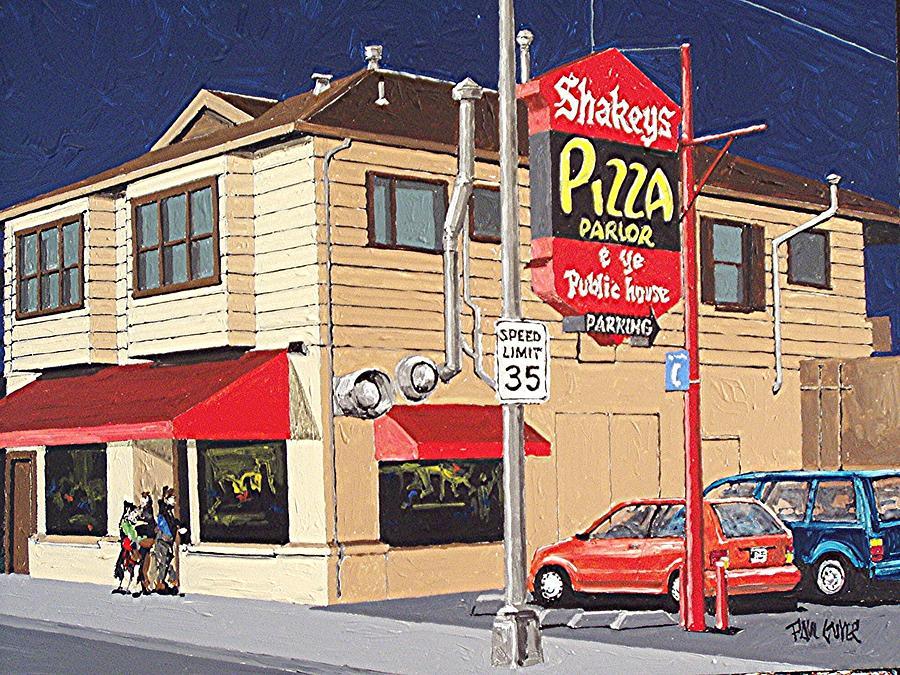 Sacramento Painting - Shakeys Pizza by Paul Guyer