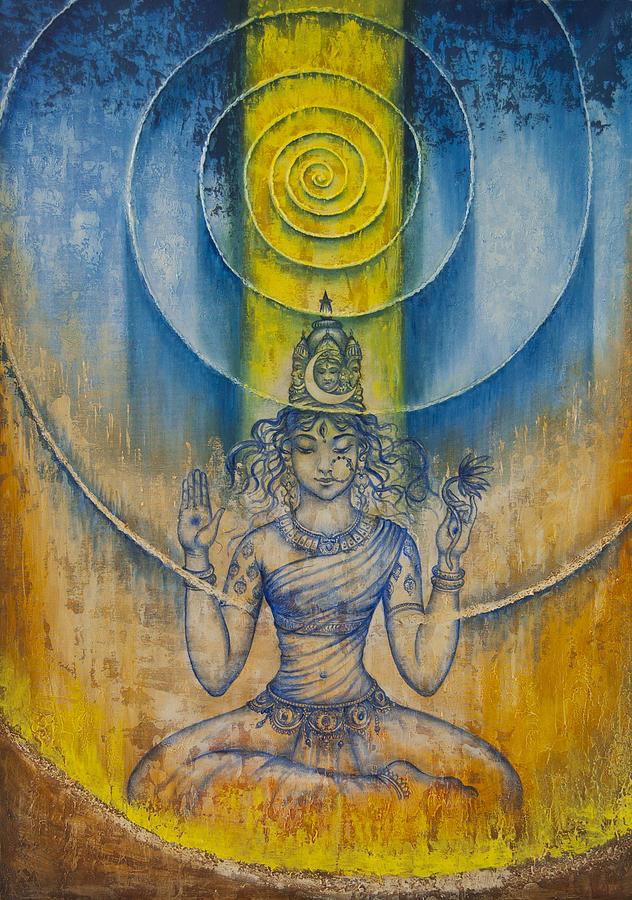 Tripura Sundari Painting - Shakti by Vrindavan Das