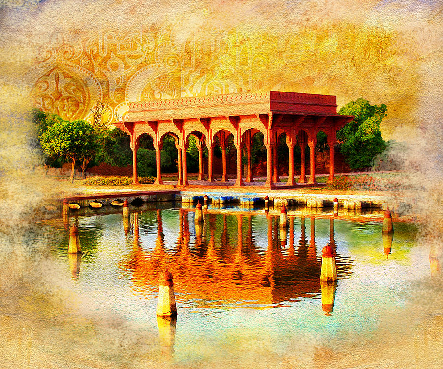 Pakistan Painting - Shalimar Gardens by Catf