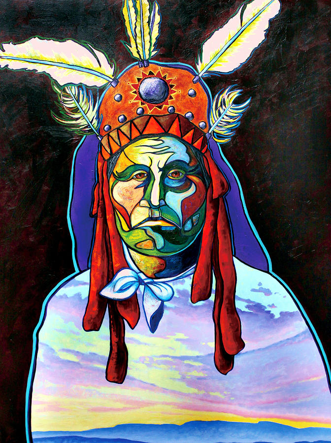 American Indian Painting - Shamans Power by Joe  Triano
