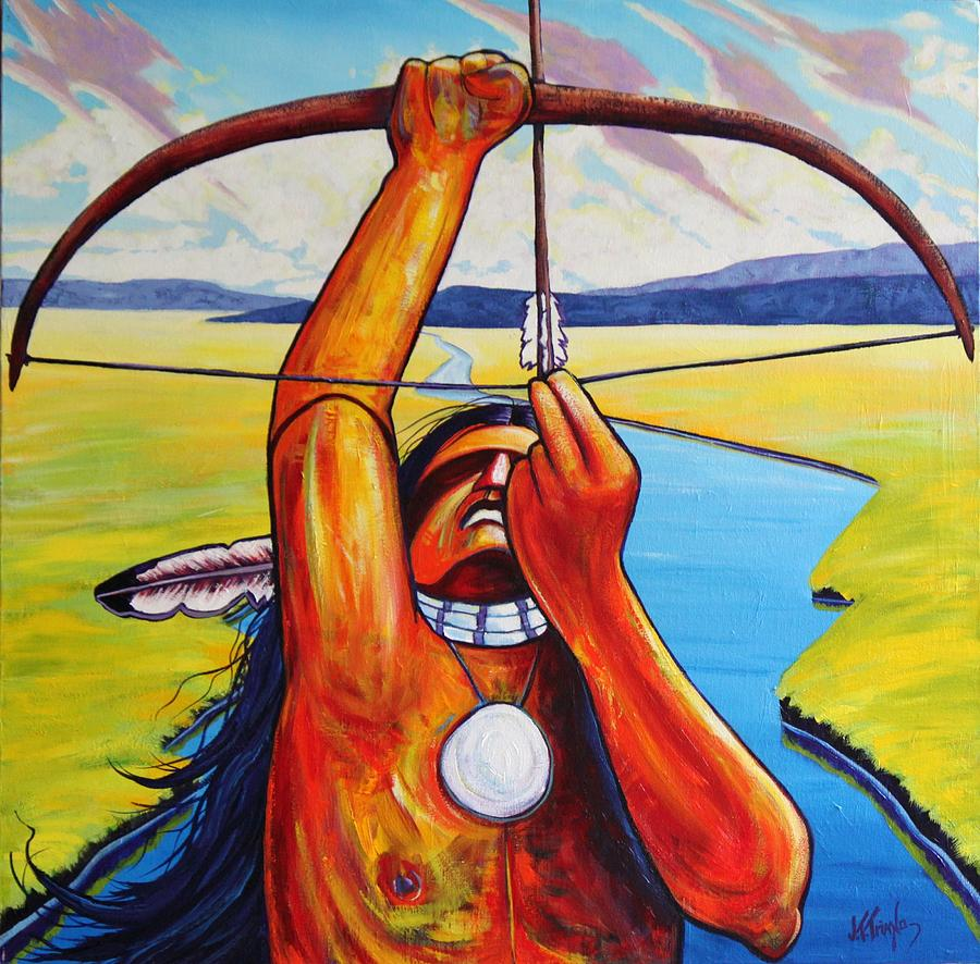 Native American Painting - Shamans Prayer by Joe  Triano