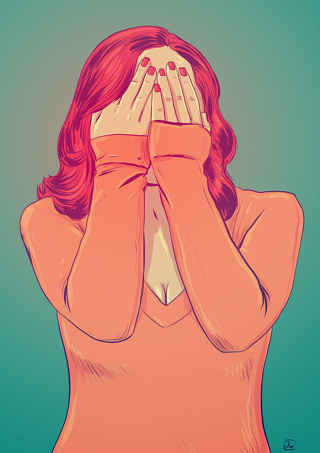 Red Hair Drawing - Shame by Giuseppe Cristiano