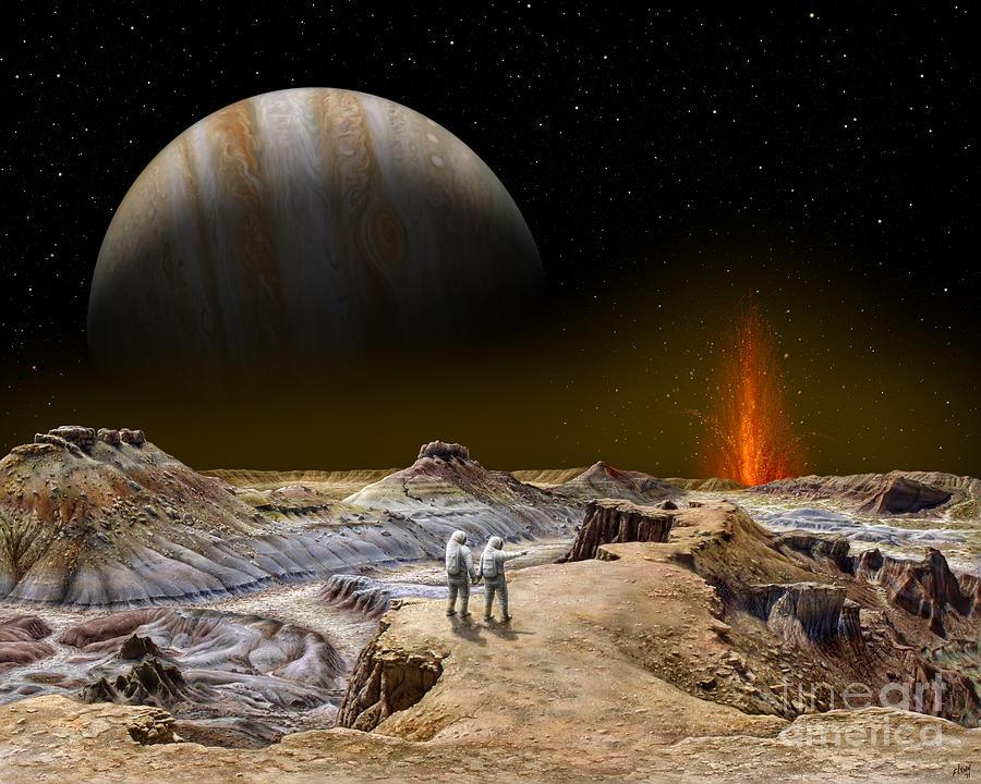 Jupiter Painting - Shamshu Soujourn  by Tharsis Artworks