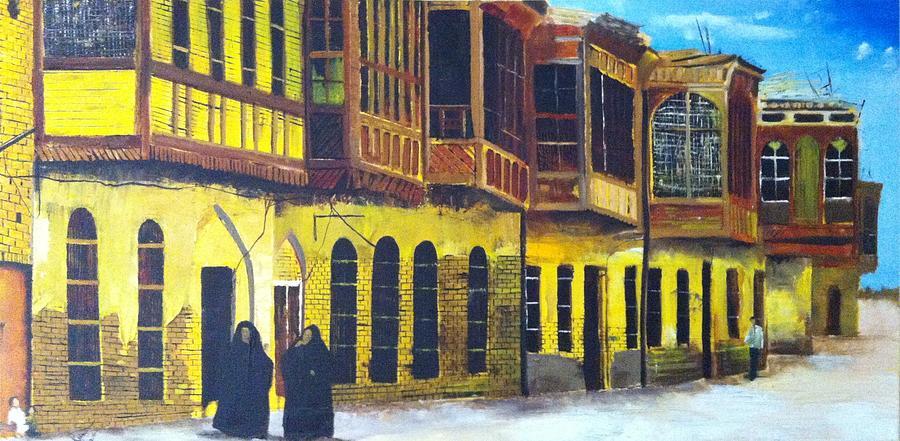 Building Painting - Shanasheel Of Old Baghdad by Rami Besancon