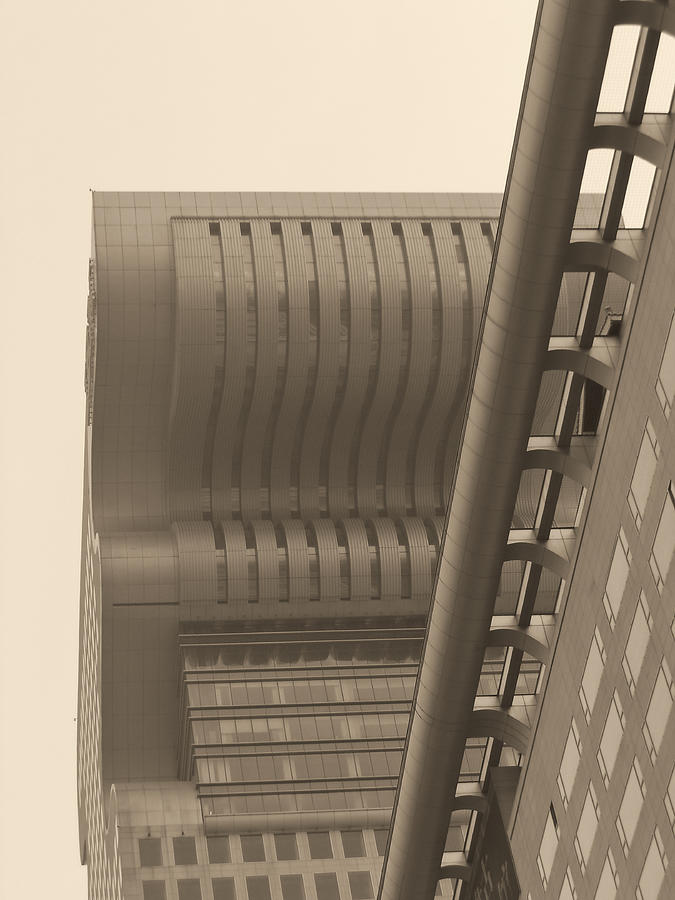Abstract Photograph - Shanghai Building In Abstract by Cathy Anderson