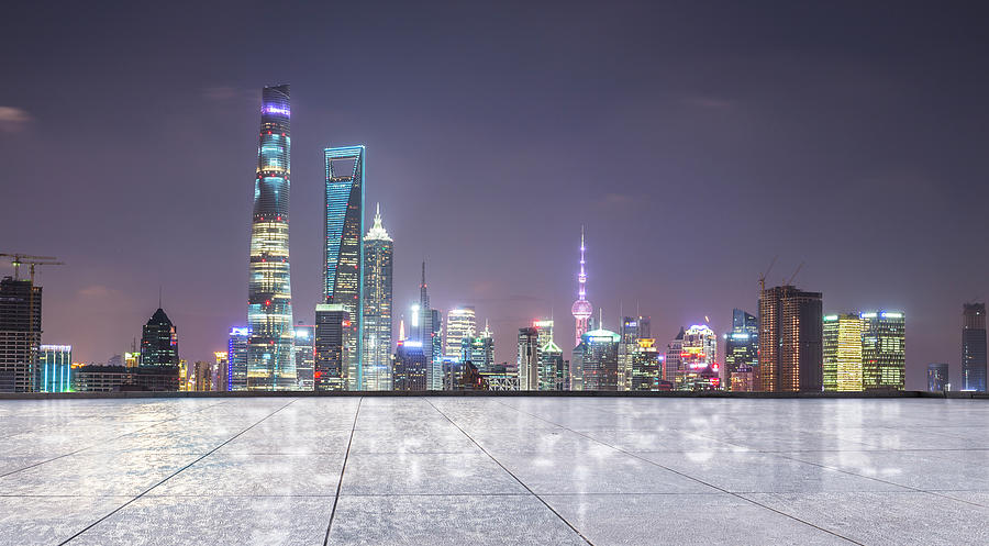 Shanghai City Scape Of Lujiazui Photograph by Qiang Fu