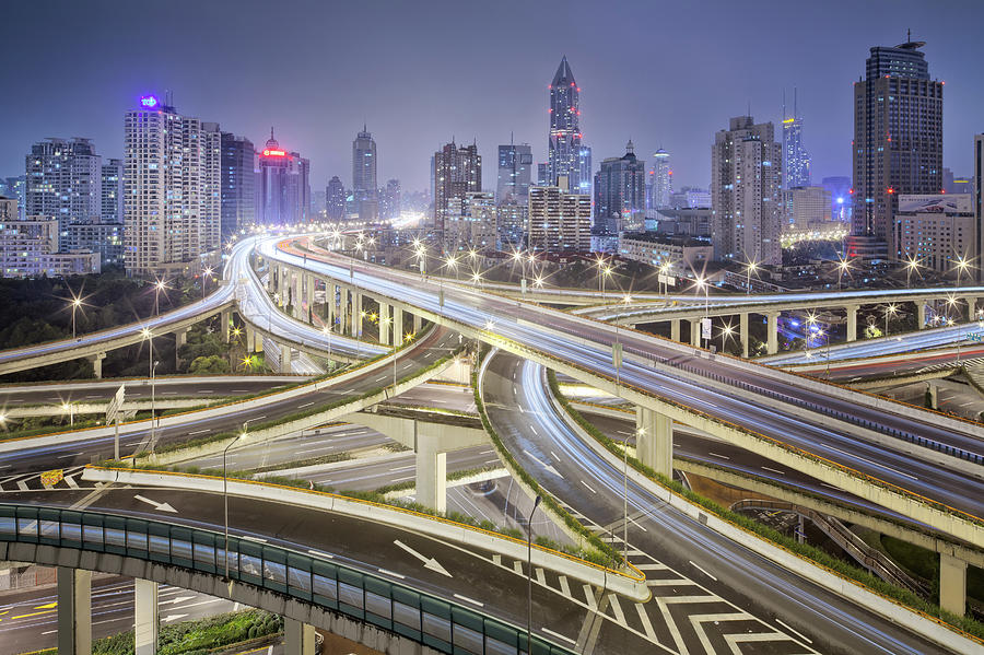 Shanghai Highway - Huge Motorway Photograph by Steffen Schnur