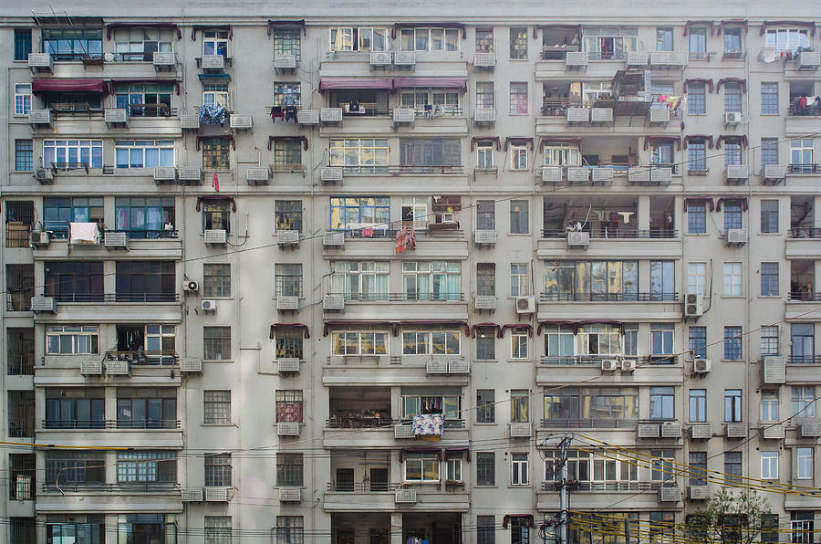Bike Photograph - Shanghai Homes by Andre Distel
