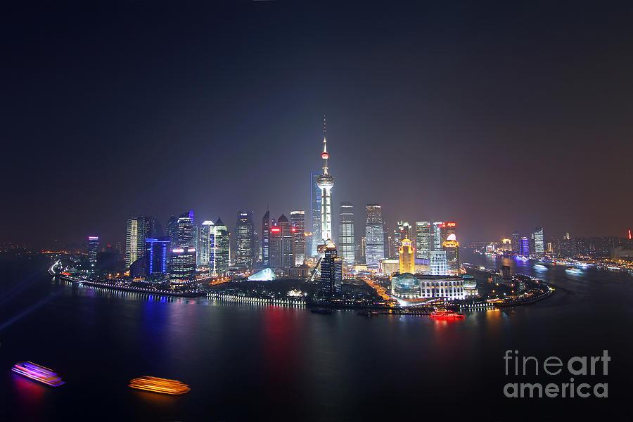 Pudong Photograph - Shanghai by Lars Ruecker