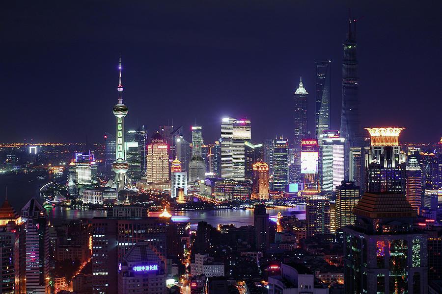 Shanghai Night Photograph by Casper Shaw Image