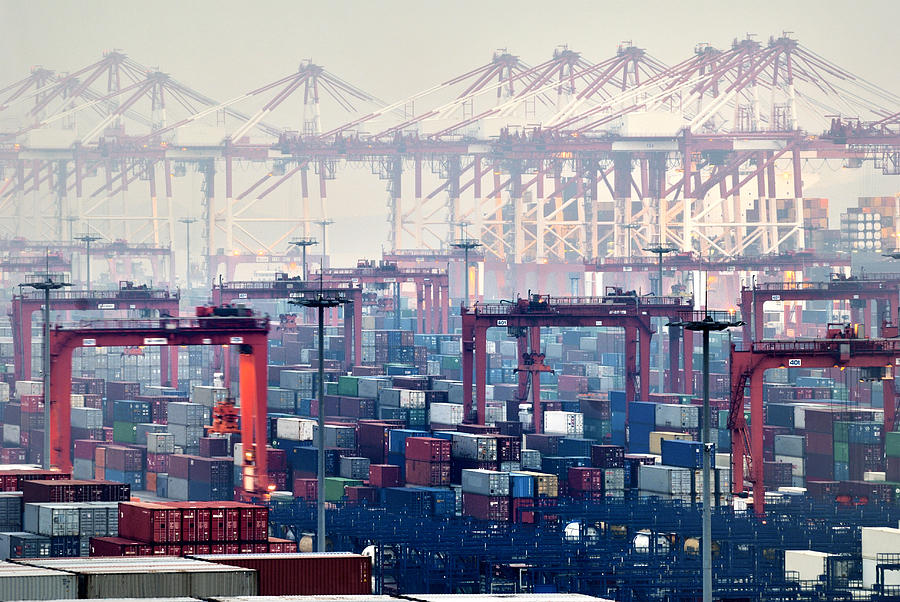 Shanghai Yangshan Deep-water Port, China Photograph by Douglas Von Roy