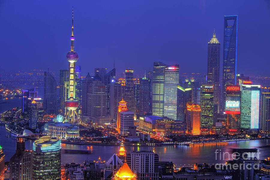 Shanghai Photograph - Shanghais Skyline by Lars Ruecker
