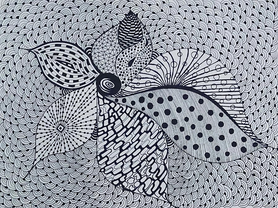 Intricate Drawing - Shangrila by Ankeeta Bansal