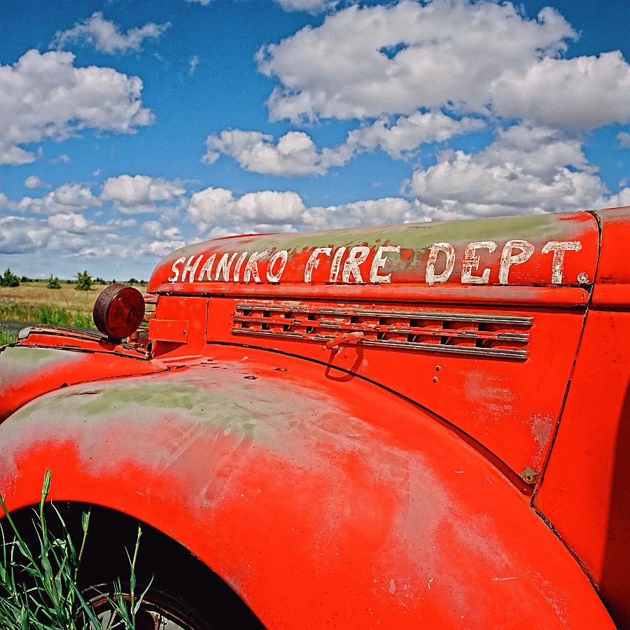 Fire Truck Photograph - Shaniko Fire Truck by Thomas J Rhodes