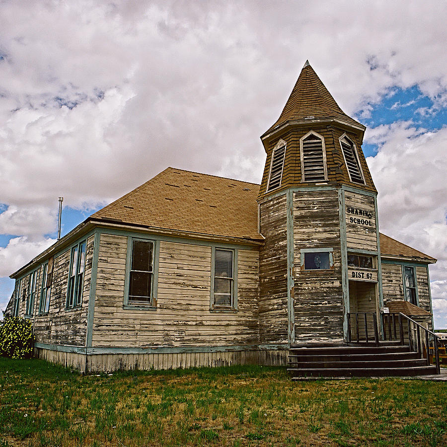 Old School Photograph - Shaniko Old Scool House by Thomas J Rhodes