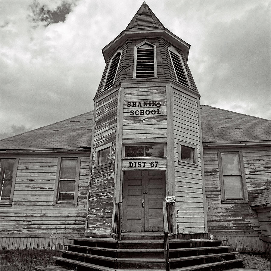 Old School Photograph - Shaniko School by Thomas J Rhodes