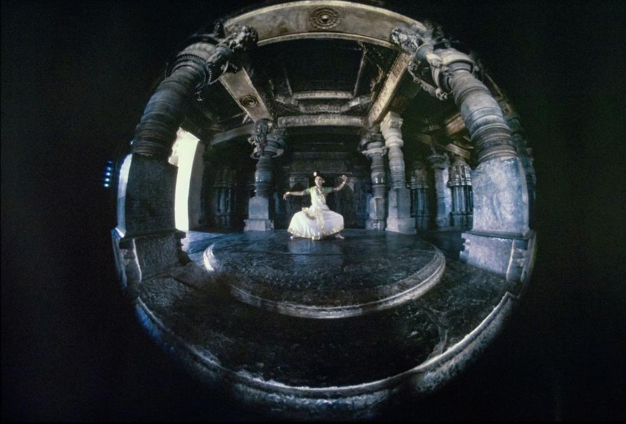 Shanta Rao Performing In Halebidu Temple Photograph by Arnaud de Rosnay