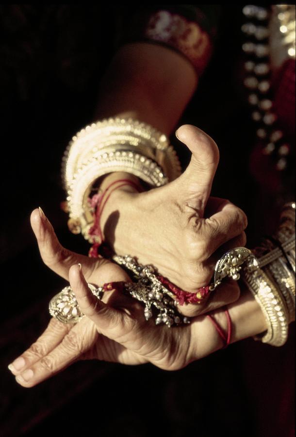 Shanta Raos Hands Demonstrating Mudras Photograph by Arnaud de Rosnay