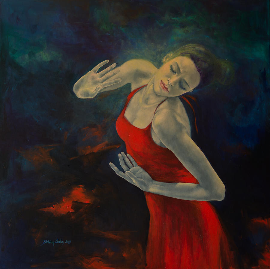 Love Painting - Shape Of My Heart... by Dorina  Costras