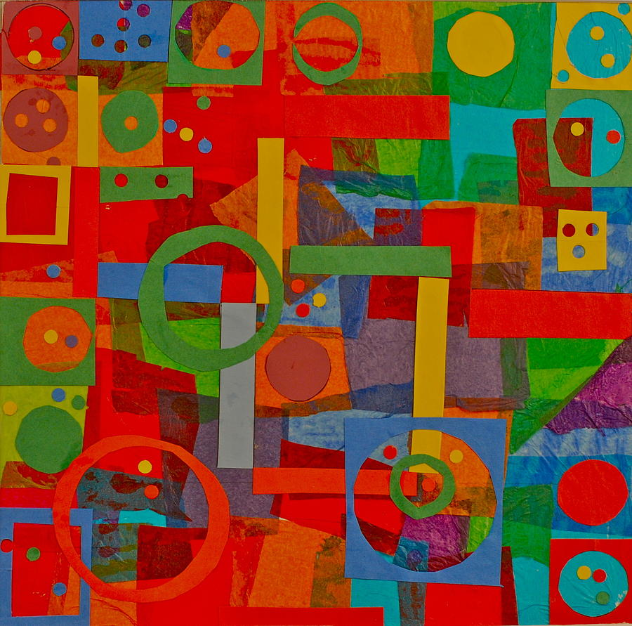 Shapes Mixed Media - Shapes In Hues In Motion by Patrick Beamish