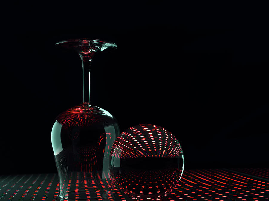 Still Life Photograph - Shapes In Red by Heidi Westum