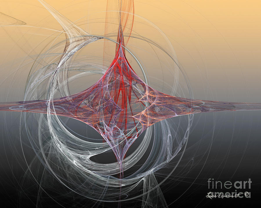 Abstract Digital Art - Shapes Infusing by Leona Arsenault