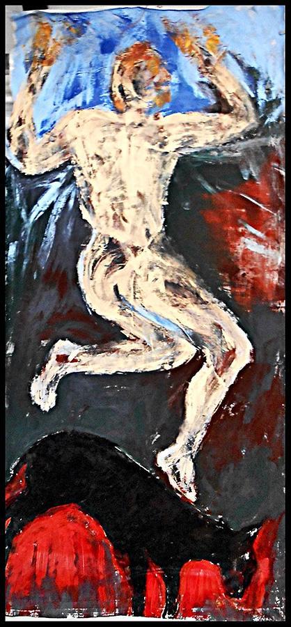 Non-figurative Painting - Shapeshifter4 by Ulrich De Balbian