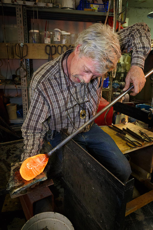 Flemish Photograph - Shaping Molten Glass by Paul Indigo
