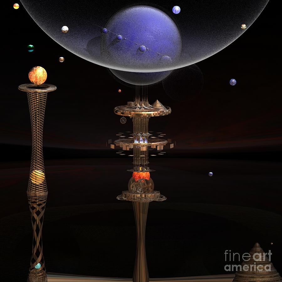Art Digital Art - Shared Visions With Max Planck by Peter R Nicholls