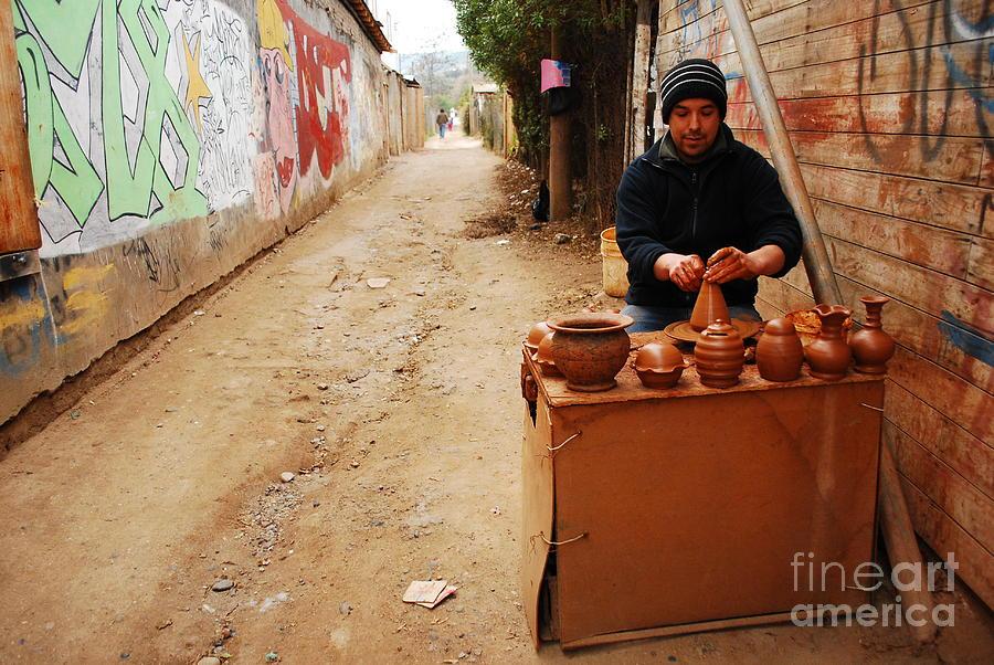 Pottery Photograph - Sharing An Art by Susan Hernandez