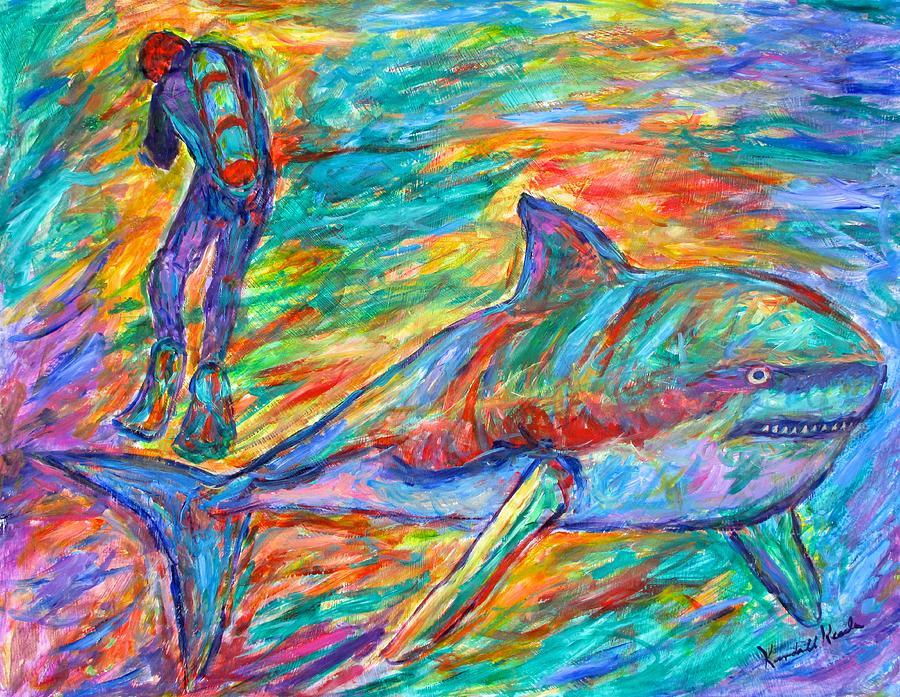 Sharks Painting - Shark Beauty by Kendall Kessler