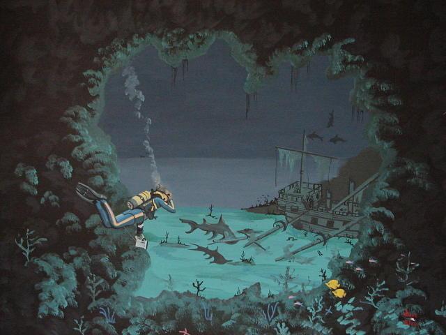 Tropical Painting - Shark Cove by David Ellis