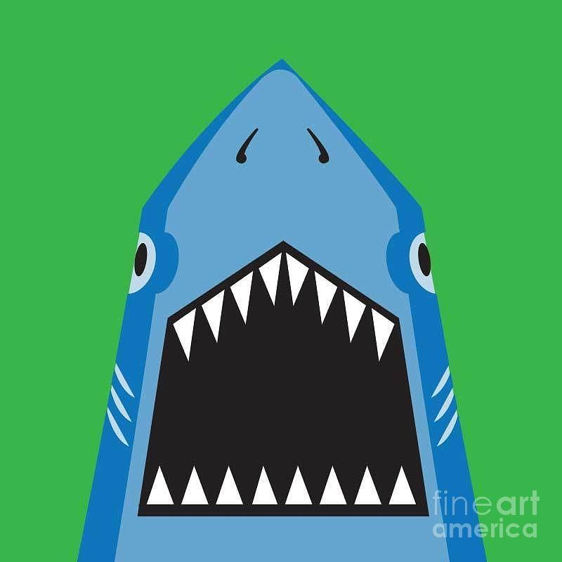 Big Digital Art - Shark Illustration, T-shirt Graphics by Syquallo
