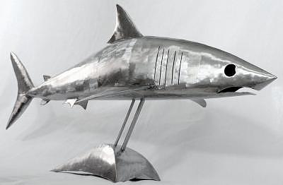Metal Sculpture - Shark by Stuart Peterman