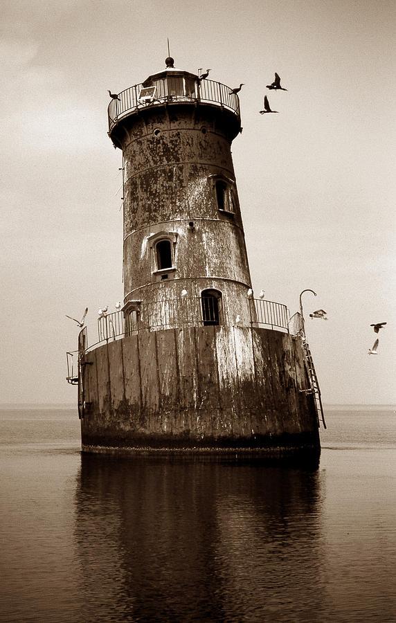 Lighthouse Photograph - Sharps Island Lighthouse by Skip Willits