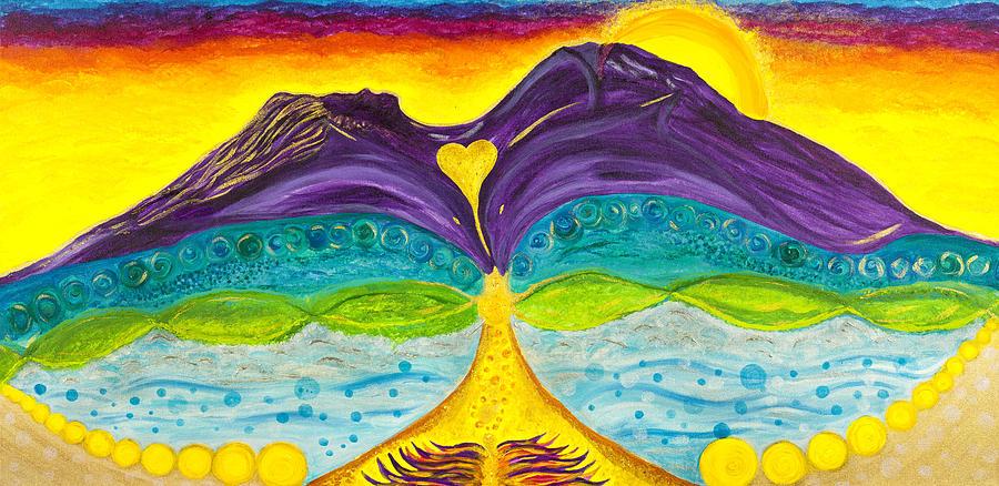 Mountain Painting - Shasta Mama by Wisper Krimmer