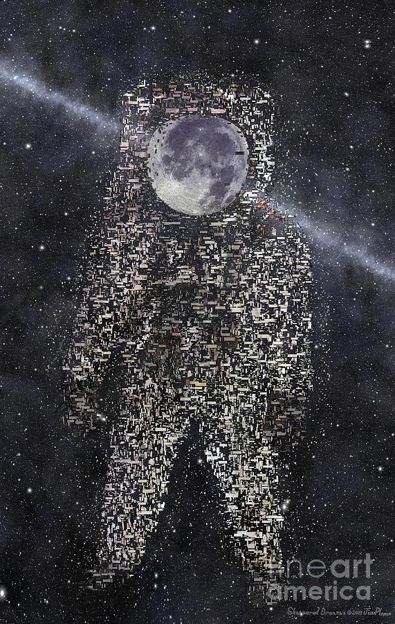 Astronaut Digital Art - Shattered Dreams by Jim  Plaxco