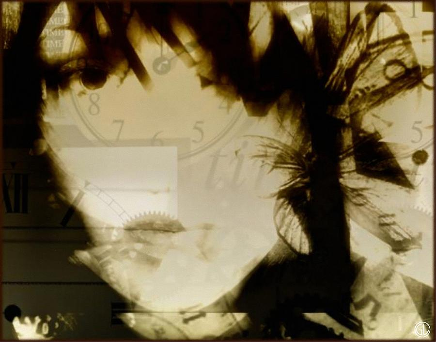 Woman Digital Art - Shattered Life-wasted Time by Gun Legler