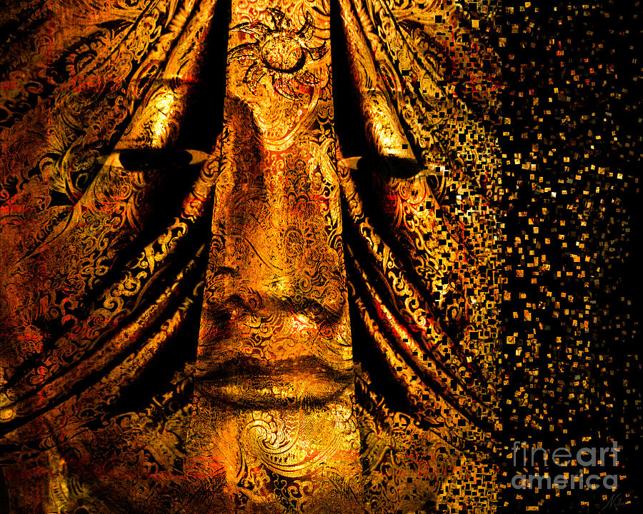 Gold Face Digital Art - Shattering The Illusion Of Eternity  by Nola Lee Kelsey