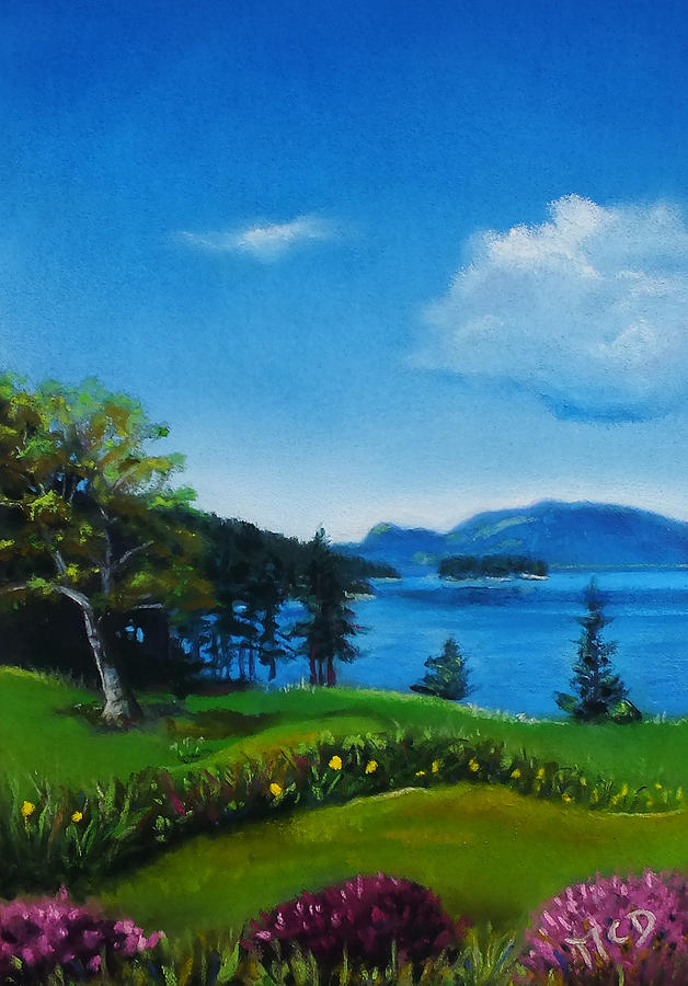 Pastel Pastel - Shaw Island Spring by Marie-Claire Dole