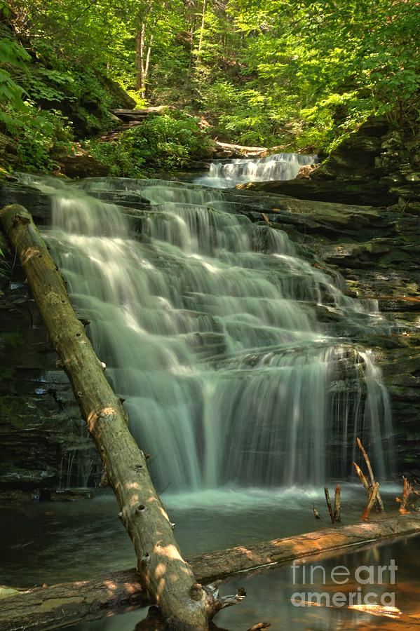 Ricketts Glen Photograph - Shawnee Falls by Adam Jewell
