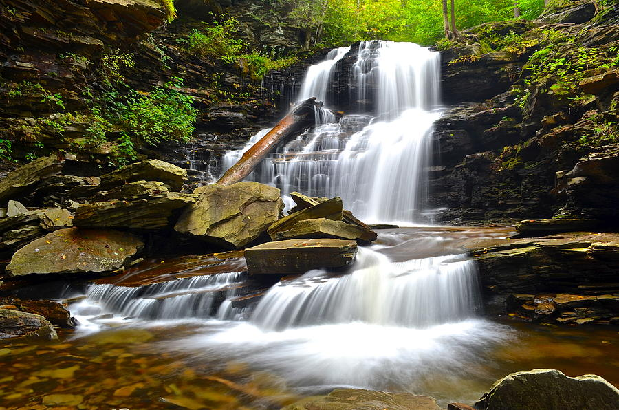 Serenity Photograph - Shawnee Falls by Frozen in Time Fine Art Photography
