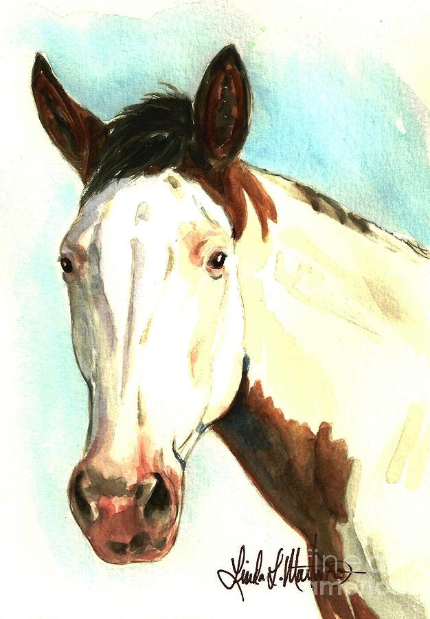Wild Horse Painting - Shawnee by Linda L Martin