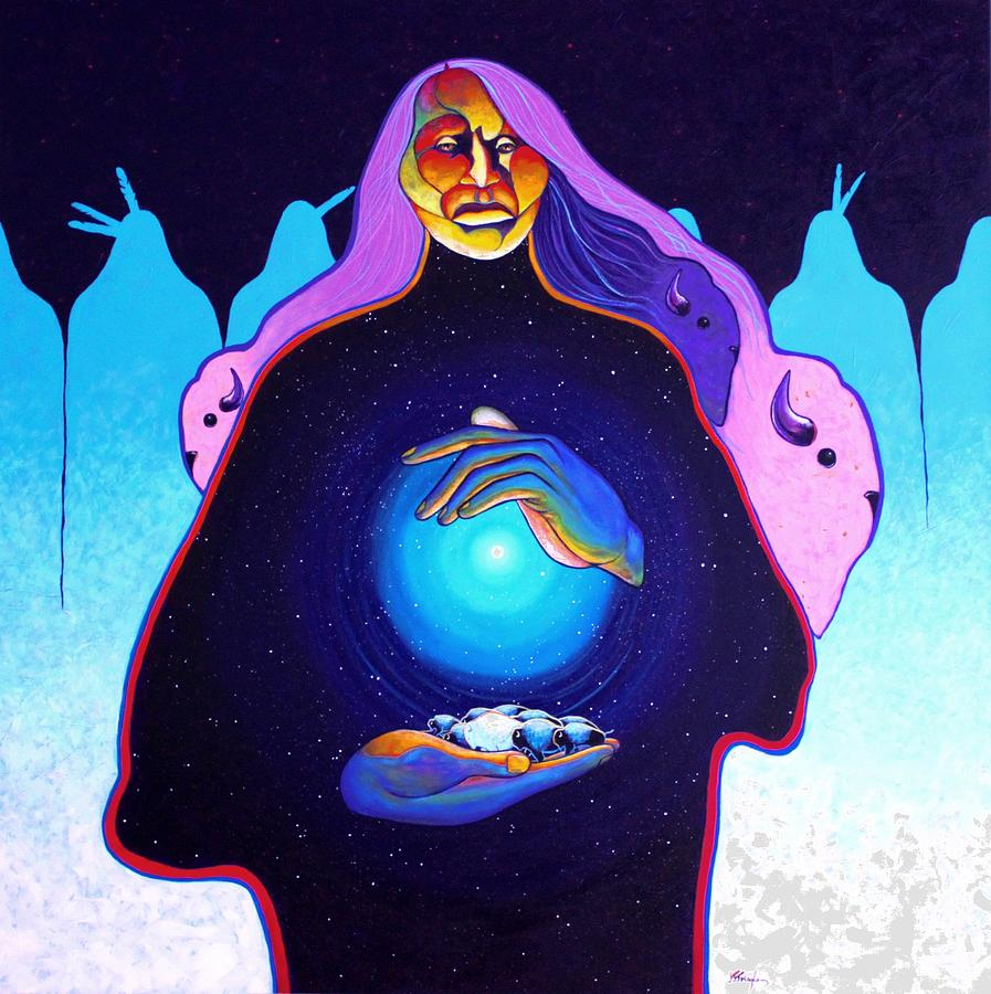 Spiritual Painting - She Carries The Spirit by Joe  Triano