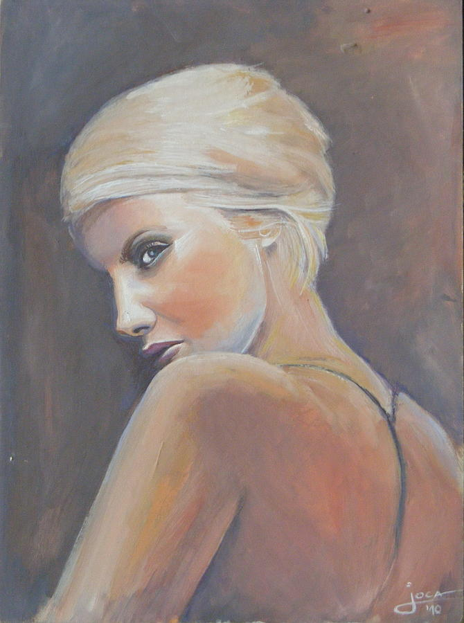 Painting Painting - She...... In Colors by Jovica Kostic