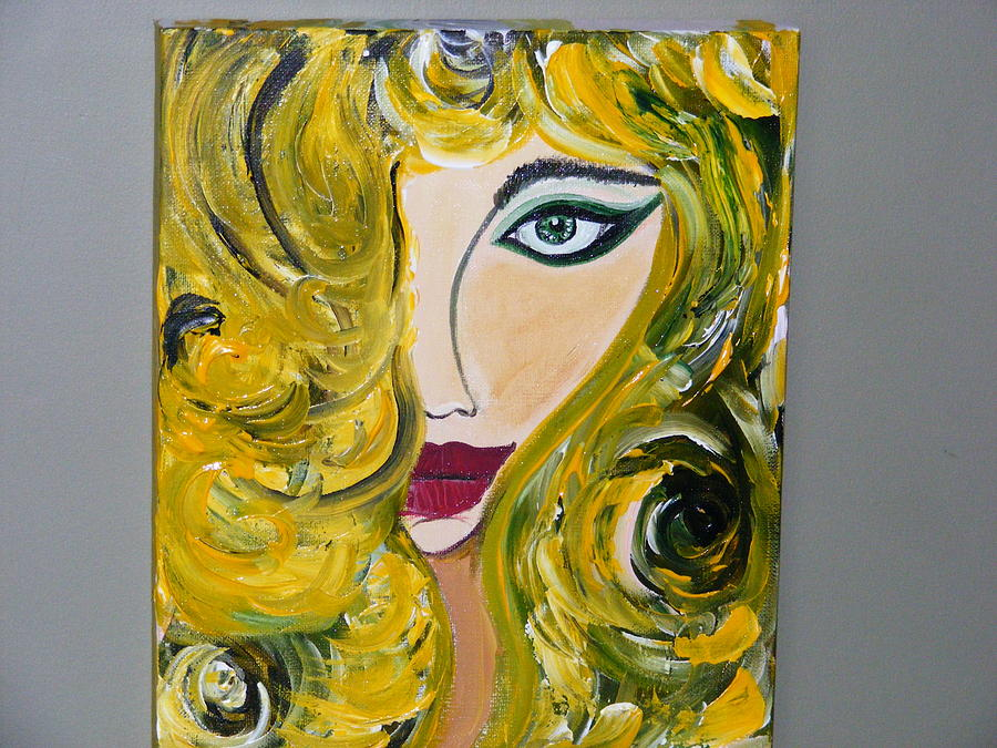 Blonde Woman Painting - She Insists by Kim St Clair